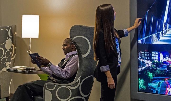 Huntington Hotel Group displays cutting-edge hospitality technology.