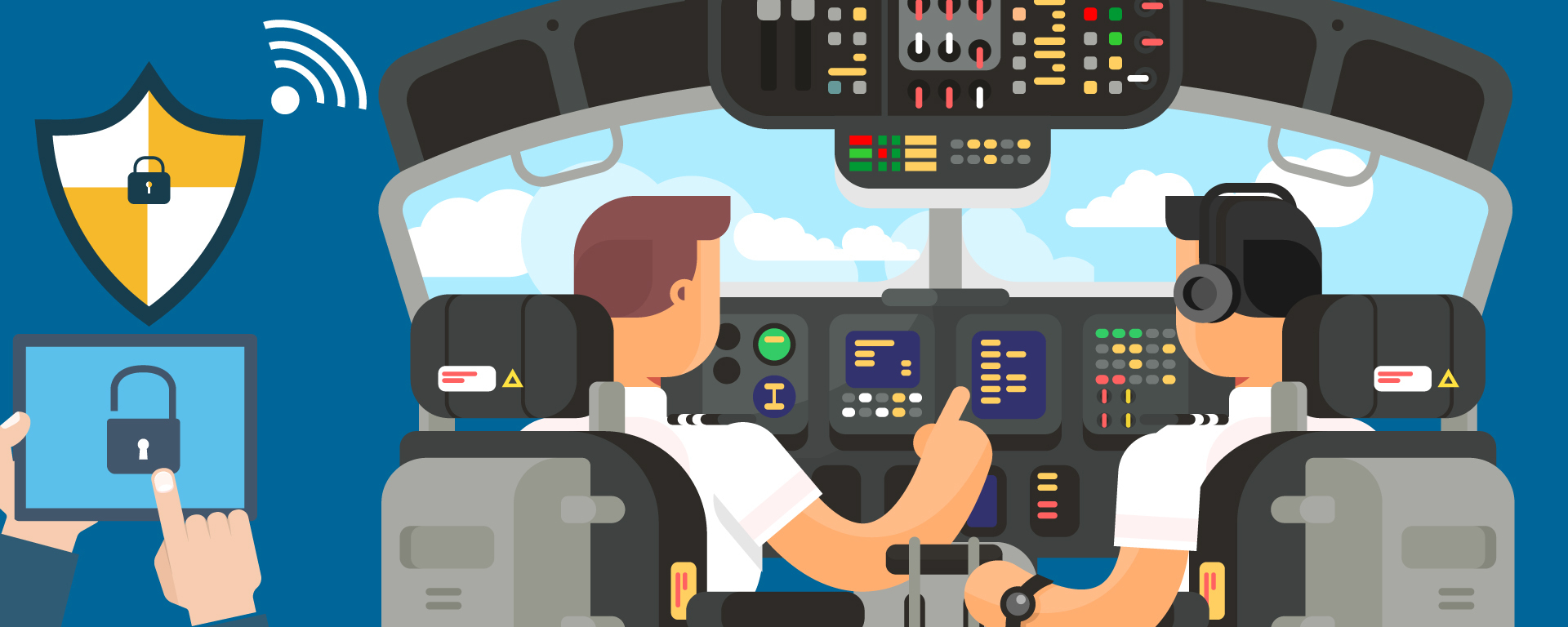 The recent increase in the use of Wi-Fi and mobile devices while in flight highlights a need for increased aviation cybersecurity.