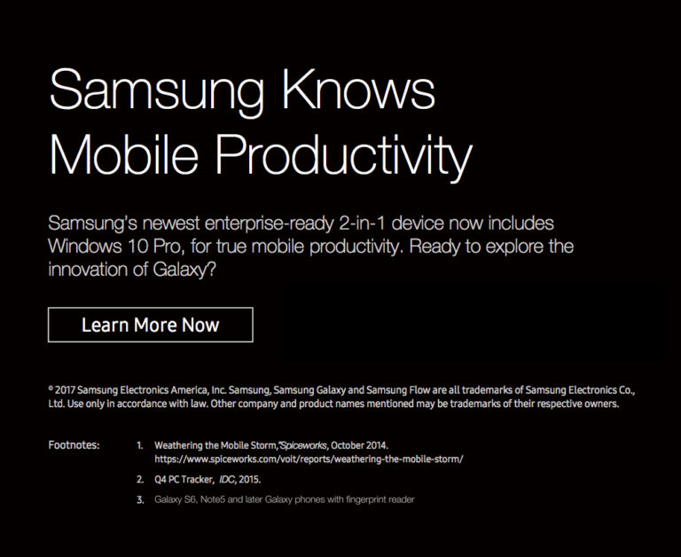 Samsung's newest enterprise-ready 2-in-1 device now includes Windows 10 Pro, for true mobile productivity.