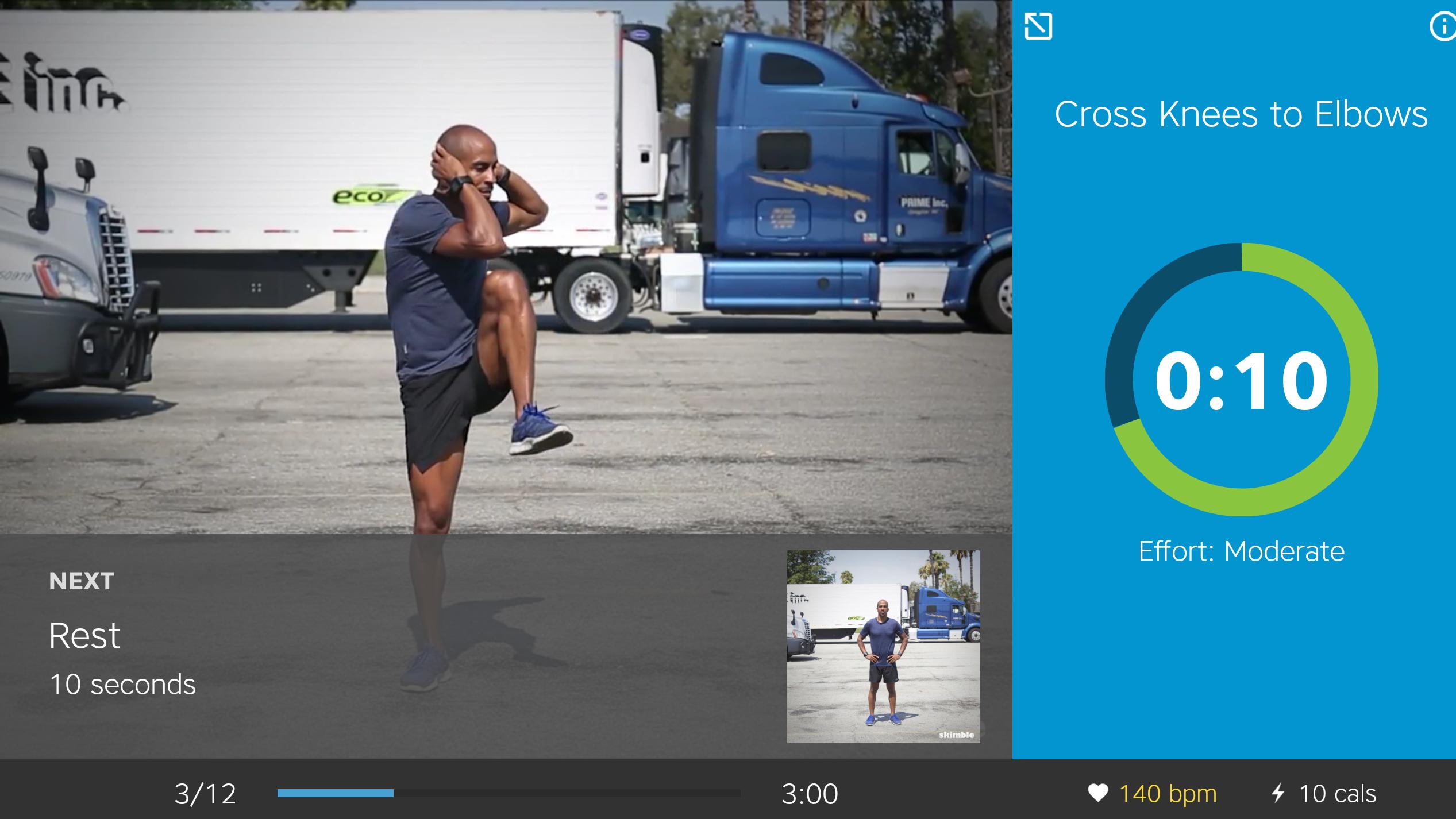 Skimble Workout Application