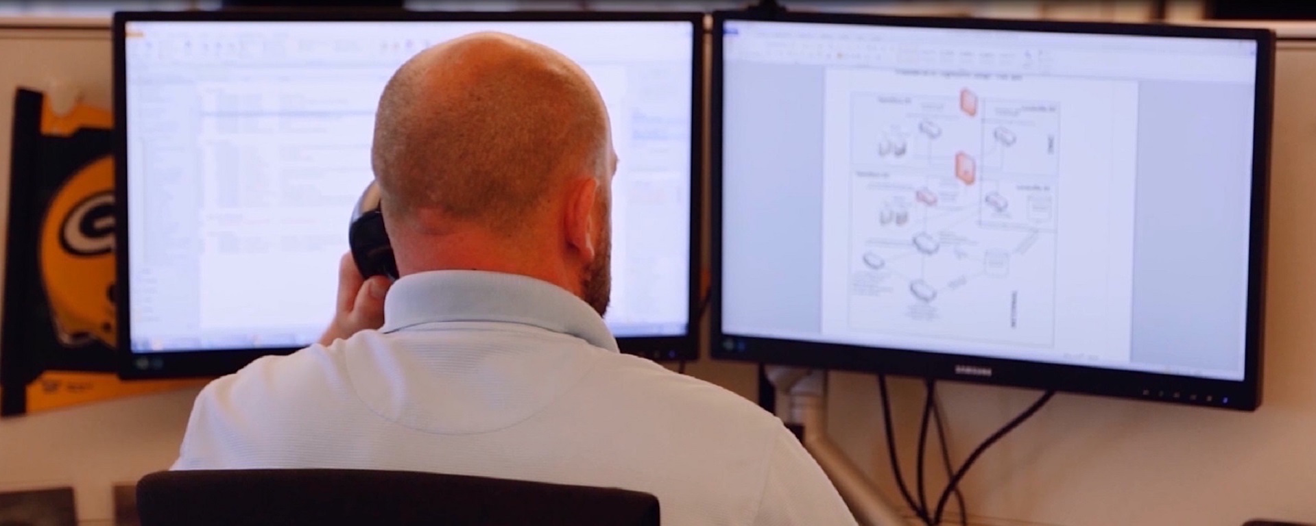 Dual monitors are driving greater productivity for CDW sales managers and executives.