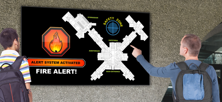 Digital signage for education can help keep students and staff safe during emergencies.