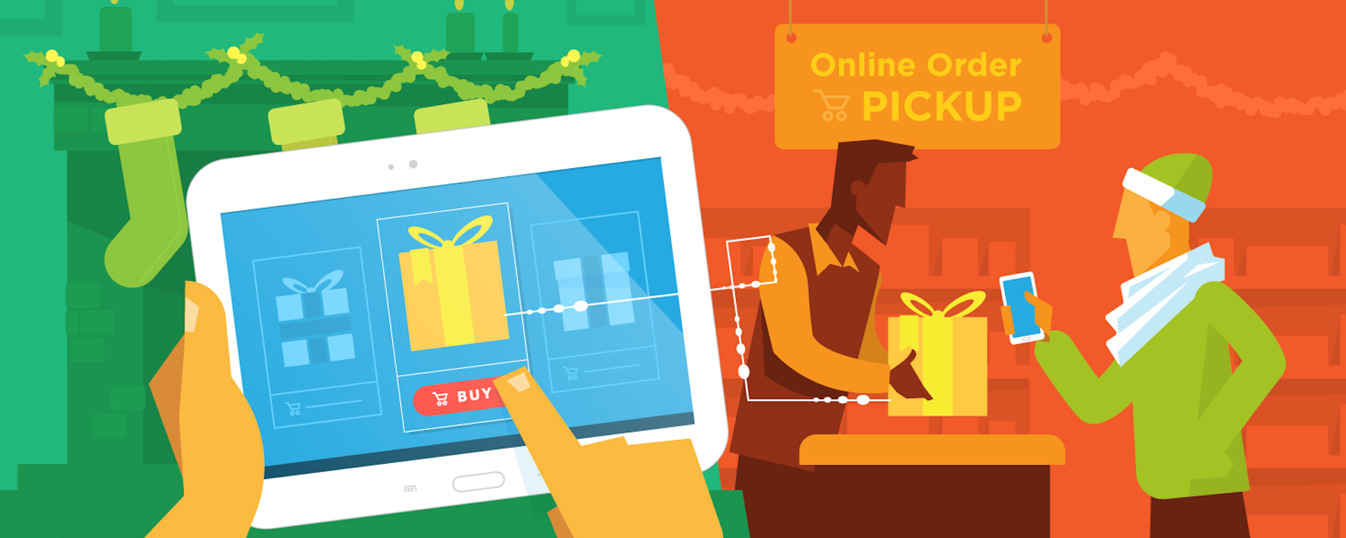 This year's holiday shopping trends are heavily influenced by technology.