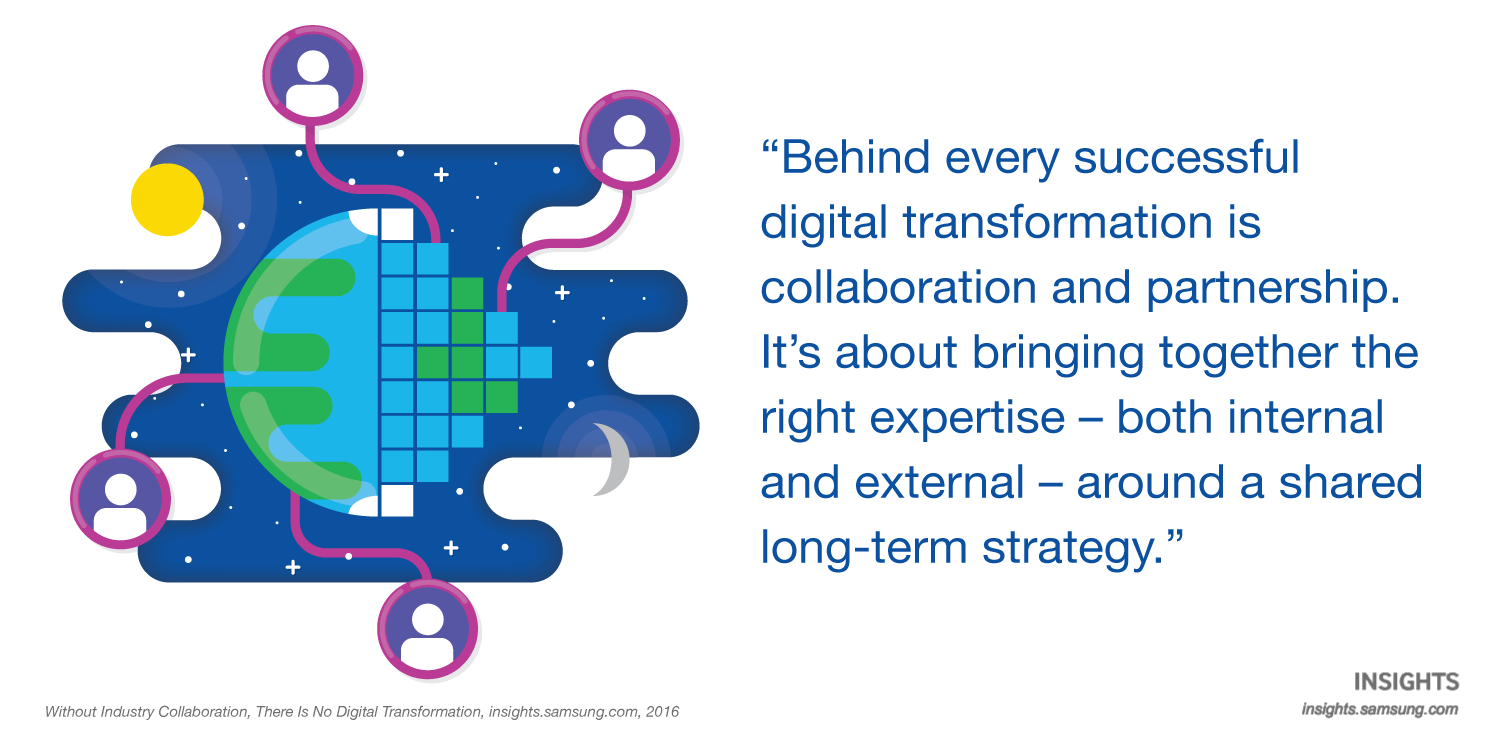 Behind every successful digital transformation is collaboration and partnership. It's about bringing together the right expertise - both internal and external - around a shared long-term strategy.