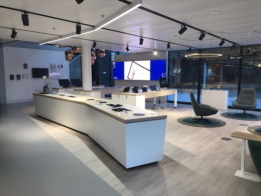 Microsoft's collaborative workspaces feature Samsung LED displays