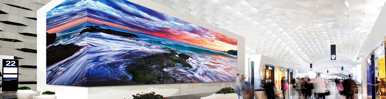 Large LED video wall