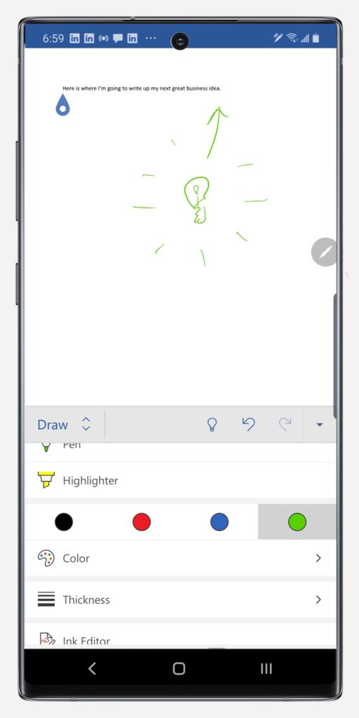 Draw menu full screen Note10