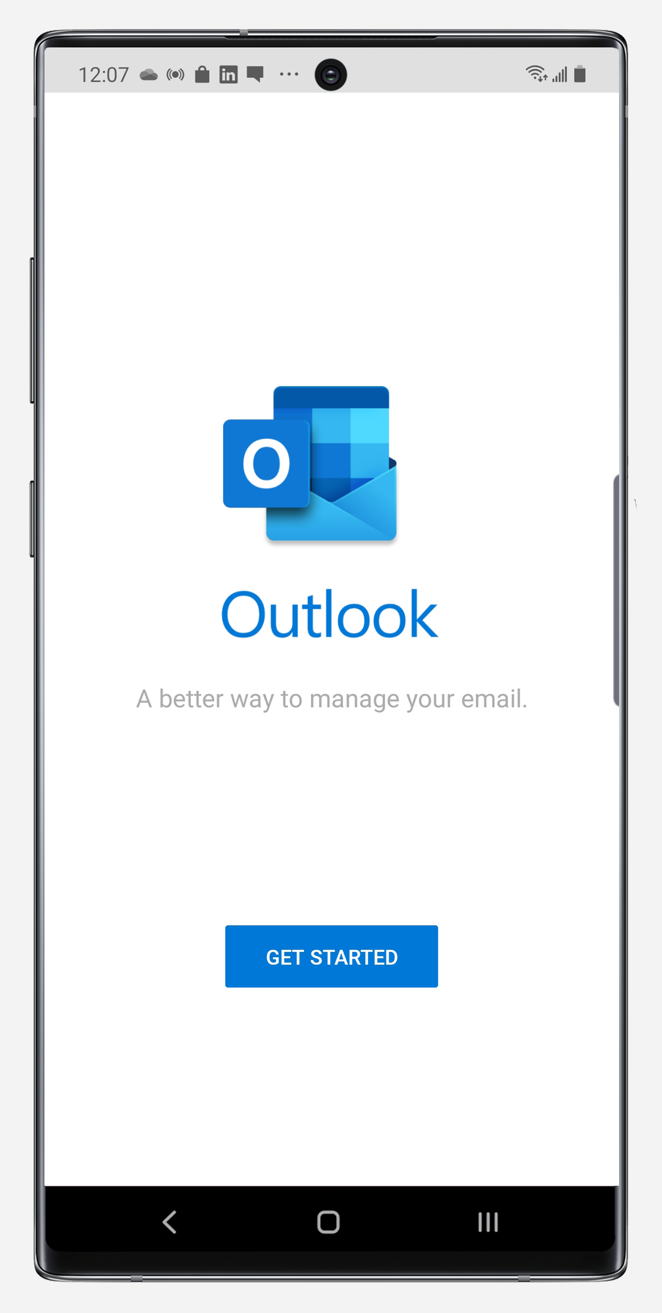 Outlook getting started on Note10