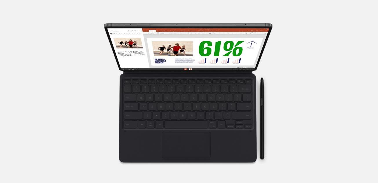Tab S7+ with keyboard and S Pen